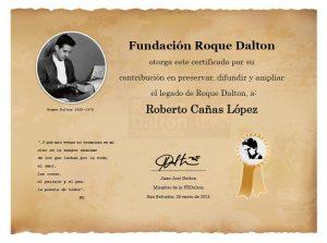 FRDalton otorga reconocimiento póstumo Roberto Cañas